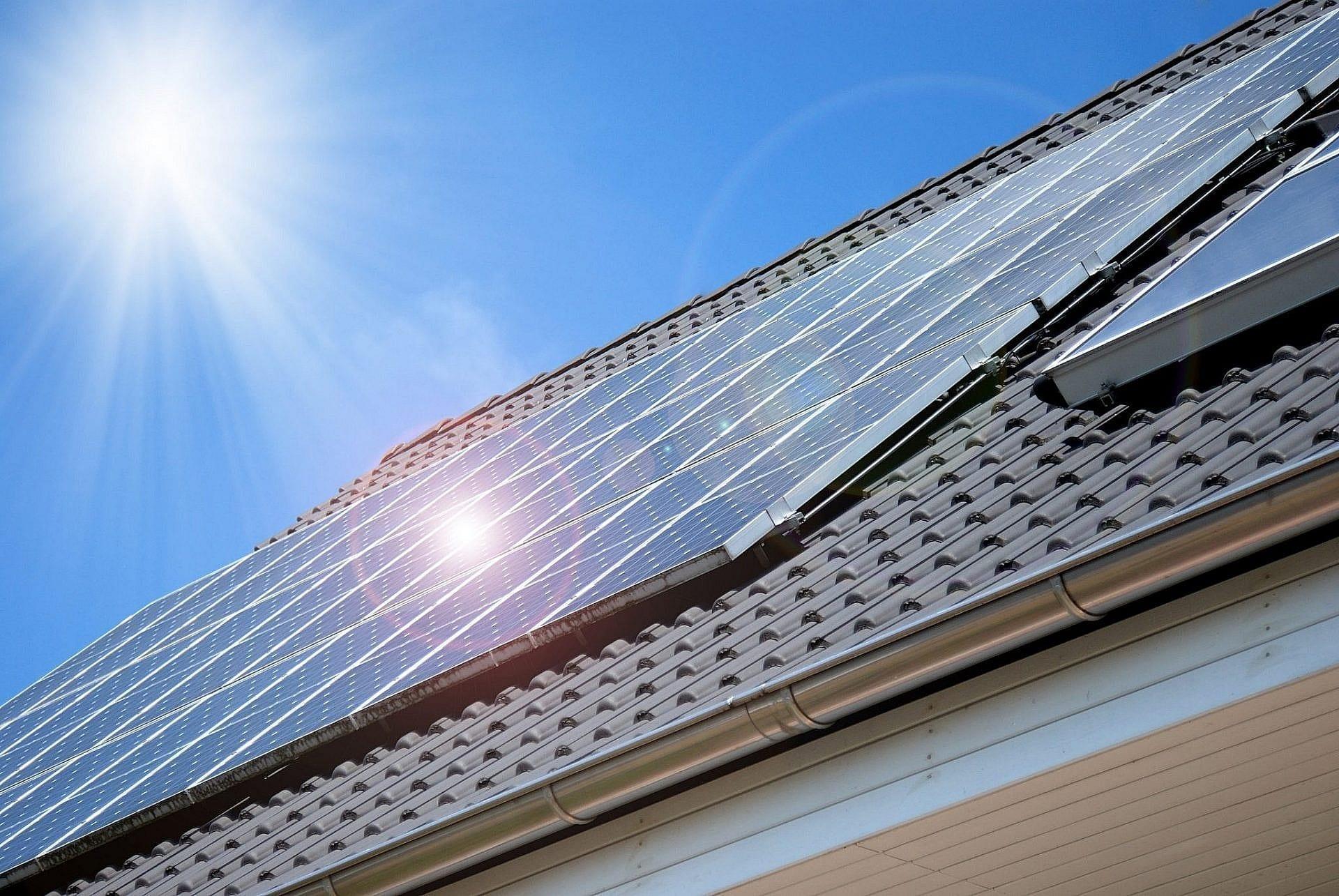 Solceller med batteri i Ølgod